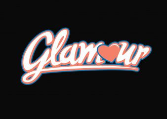 Glamour Glam Squad vector t-shirt design for commercial use