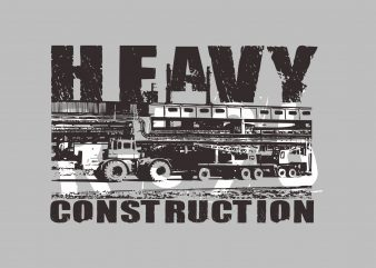 Heavy Construction graphic t shirt