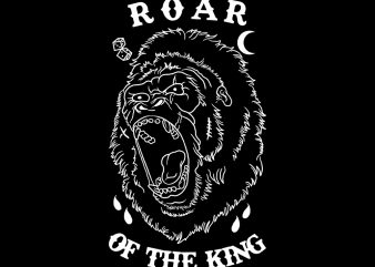 roar of the king tshirt design