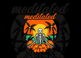 meditated t shirt designs for sale