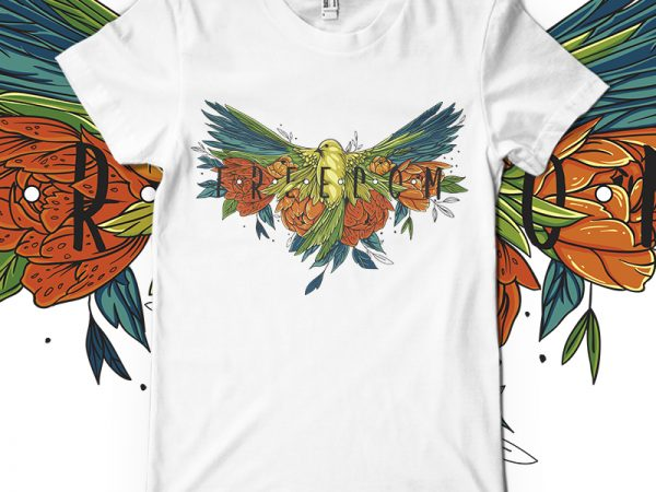 Freedom vector t-shirt design for commercial use