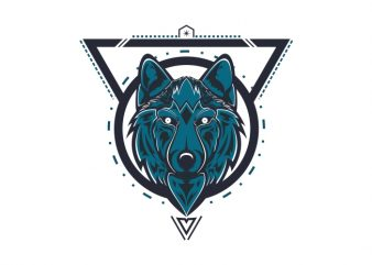 mystical wolf vector t-shirt design