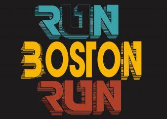 Run Boston Run t shirt design online