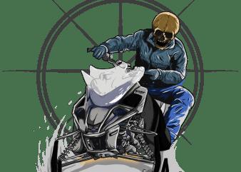 snow racer t shirt template vector