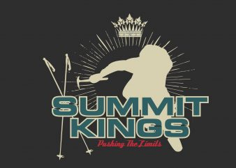 Summit Kings vector t-shirt design