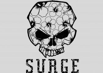 Surge graphic t-shirt design
