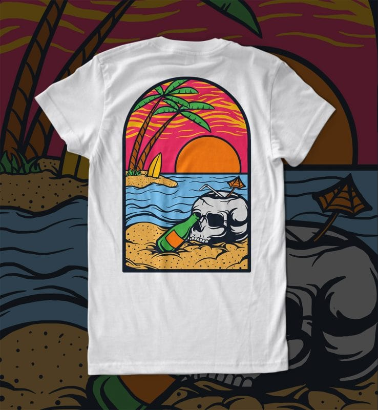 summer vibe t shirt designs for printful