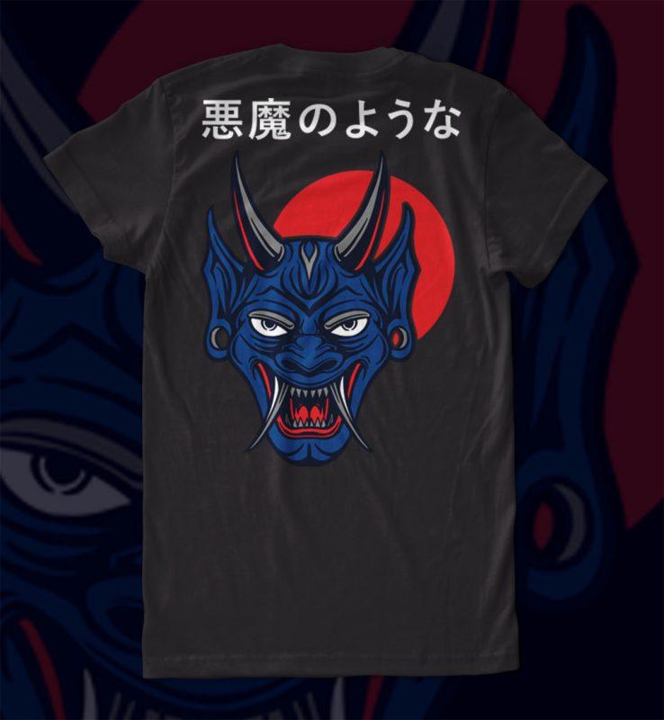 Satan mask T-shirt Design commercial use t shirt designs