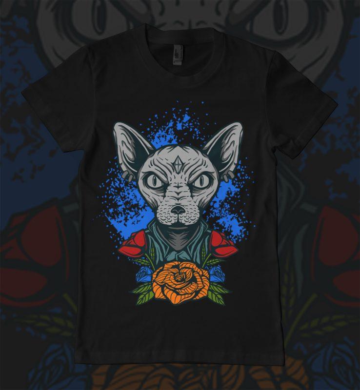 Sphinx Tshirt design t shirt designs for printify