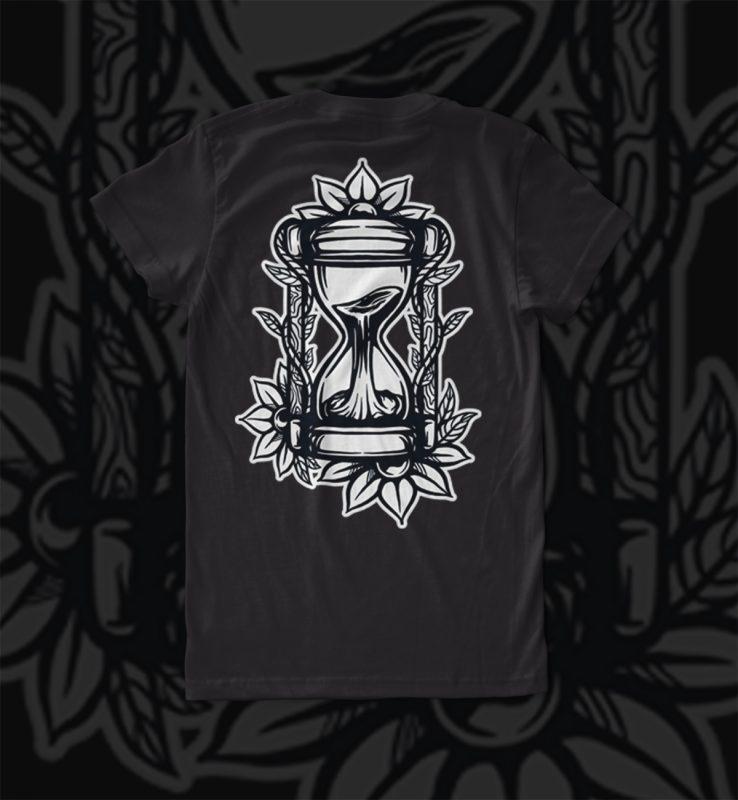 hourglass t shirt designs for printify