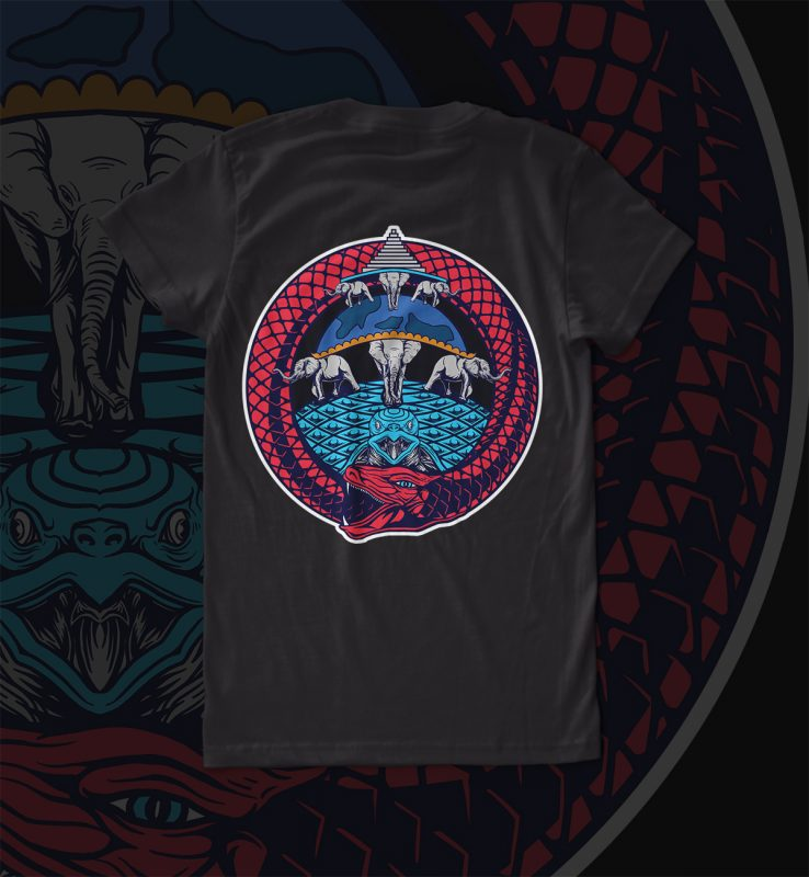 ouroborous t shirt design graphic