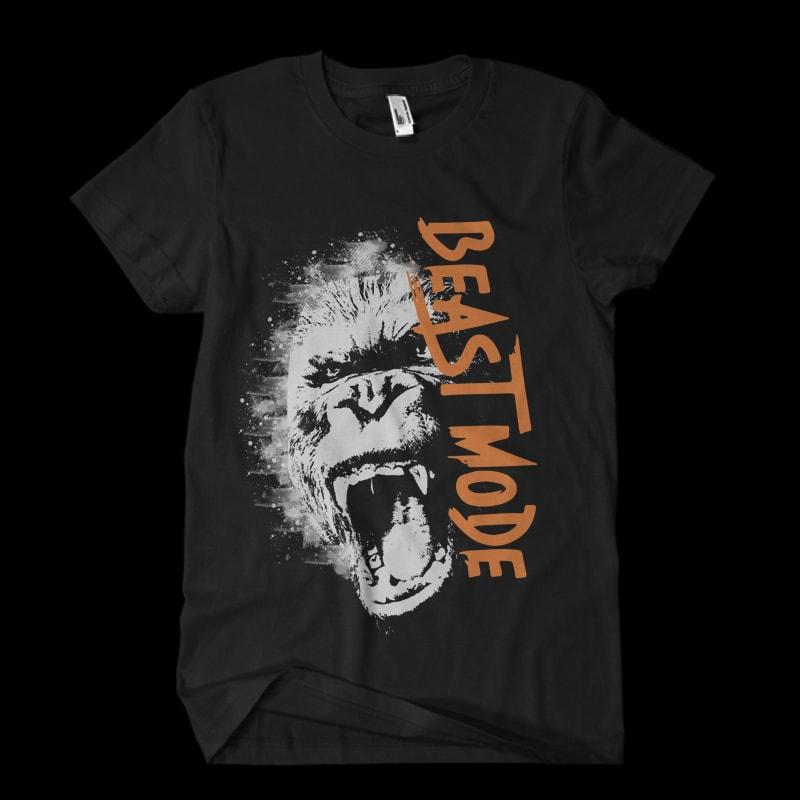 beast Vector t-shirt design tshirt-factory.com