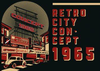 RETRO CITY t shirt design online