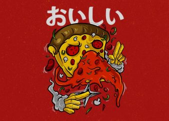 pizza no jutsu Graphic t-shirt design