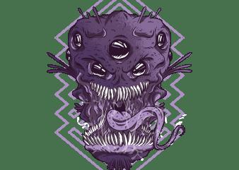 Alien Monsters Head t shirt vector