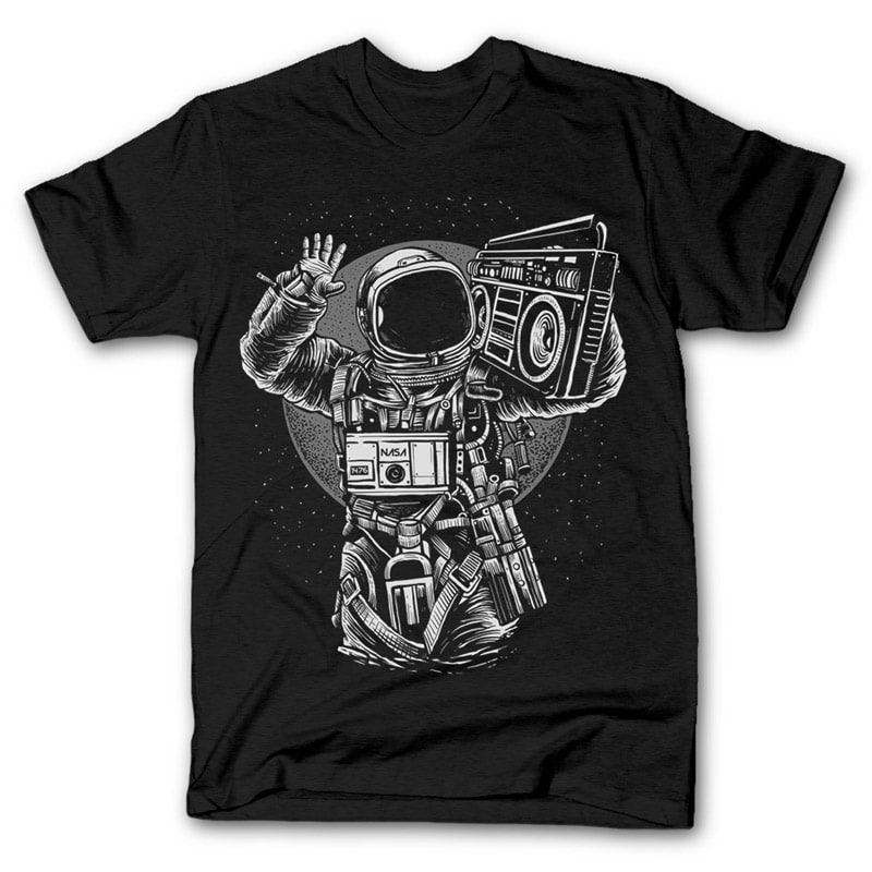 Astronaut Boombox buy t shirt design