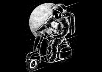 Astroscooter t-shirt design png