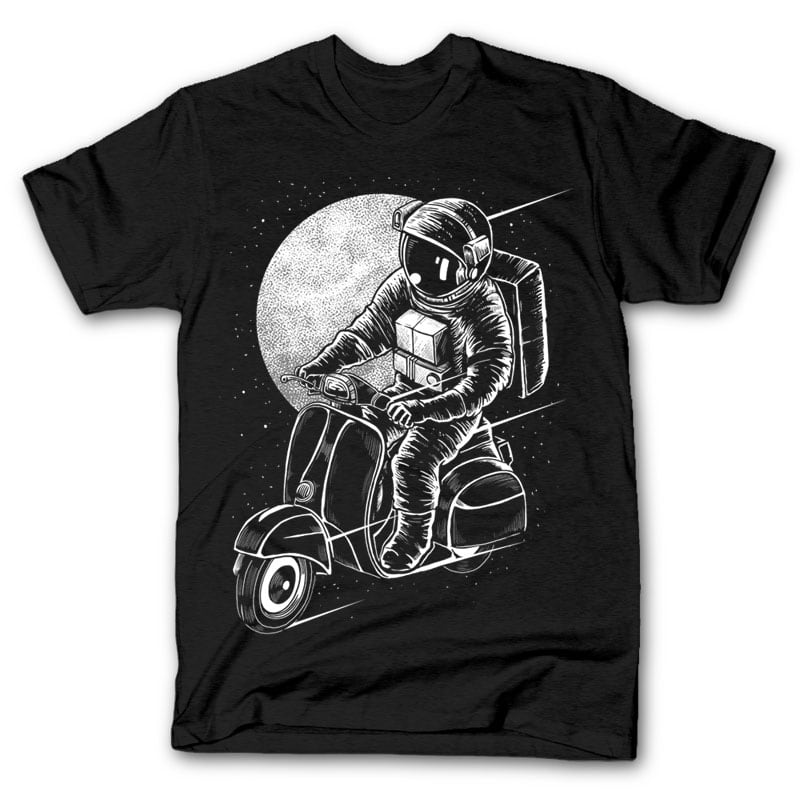 Astroscooter t shirt designs for printify