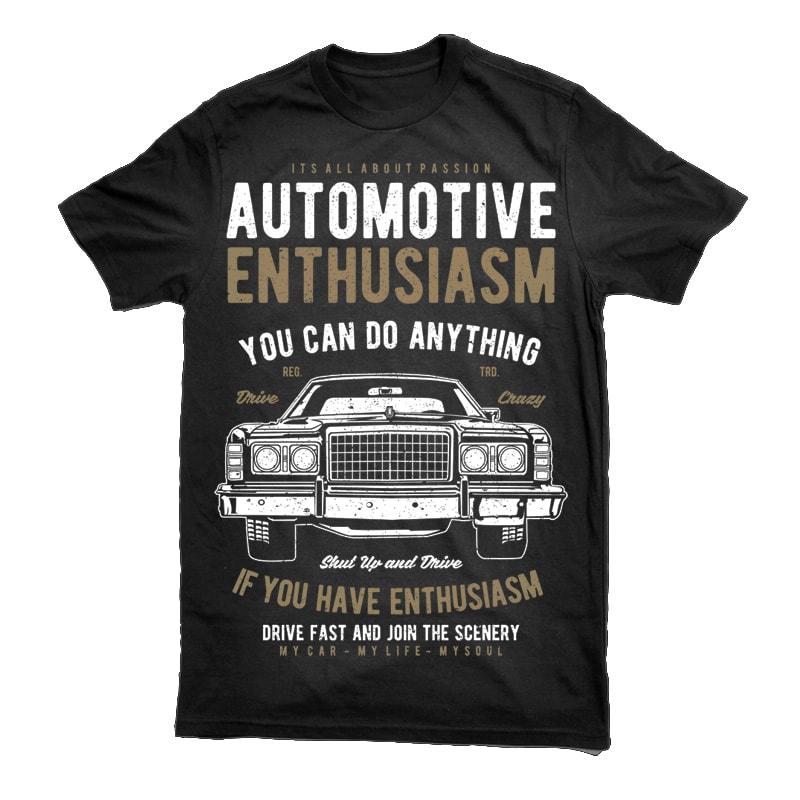 Automotive Enthusiasm Vector t-shirt design commercial use t shirt designs