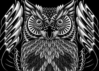 Owl Skull Ornate t shirt design online