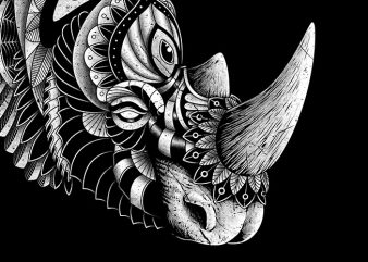 Rhino Ornate t shirt design online