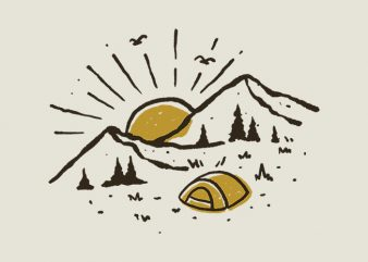 Sunrise Mountain t shirt template vector
