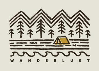 Wanderlust t shirt design for sale