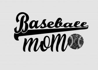 Baseball Mom t shirt template