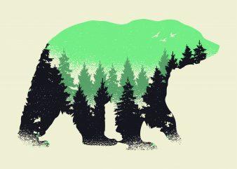 Bear Forest t shirt template