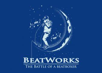 BEAT WORK t shirt template