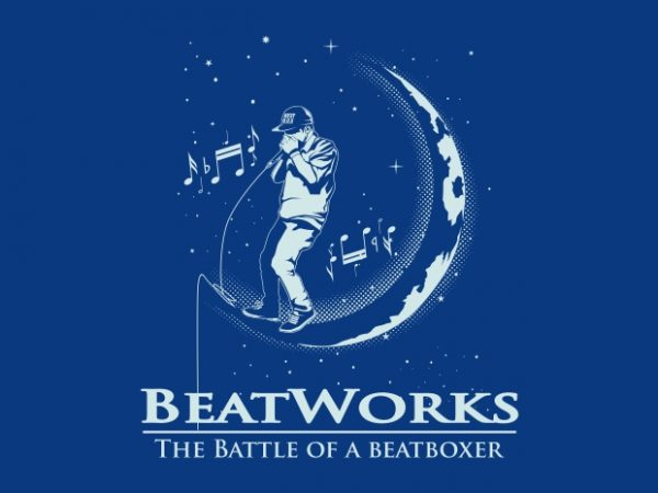 BEAT WORK vector t-shirt design for commercial use