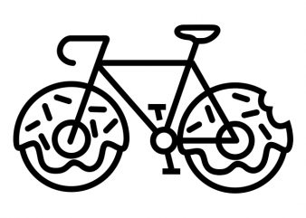 Bicycle Donuts t shirt design png