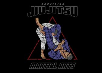 Brazilian Jiujitsu caligram t shirt design to buy