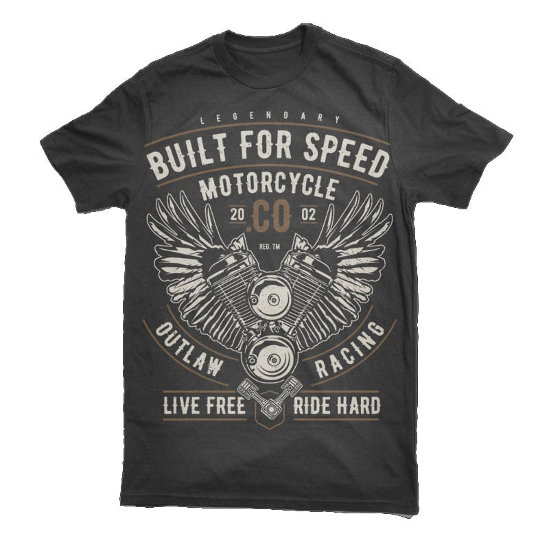 Built For Speed Motorcycle Vector t-shirt design commercial use t shirt designs