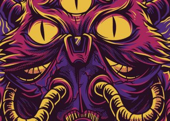 The Cat Monster T-Shirt Design