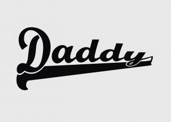 Daddy Father's Day t shirt vector illustration