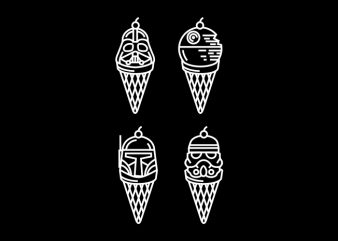 Dark Ice Cream design for t shirt