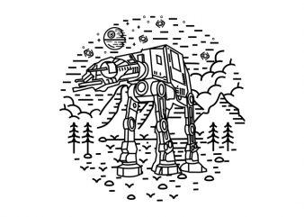 Dark Nature 2 t shirt vector illustration
