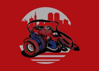 HEROES CAMERA graphic t shirt