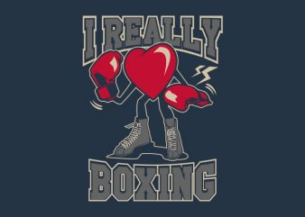 I Really Love Boxing buy t shirt design for commercial use