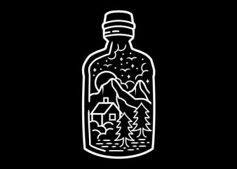 In The Bottle tshirt design vector