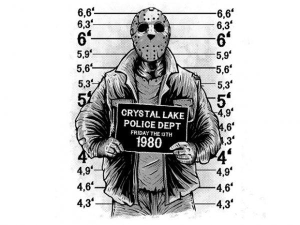 Jason t-shirt design for commercial use