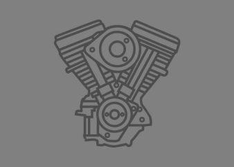 Motorcycle Engine vector t-shirt design