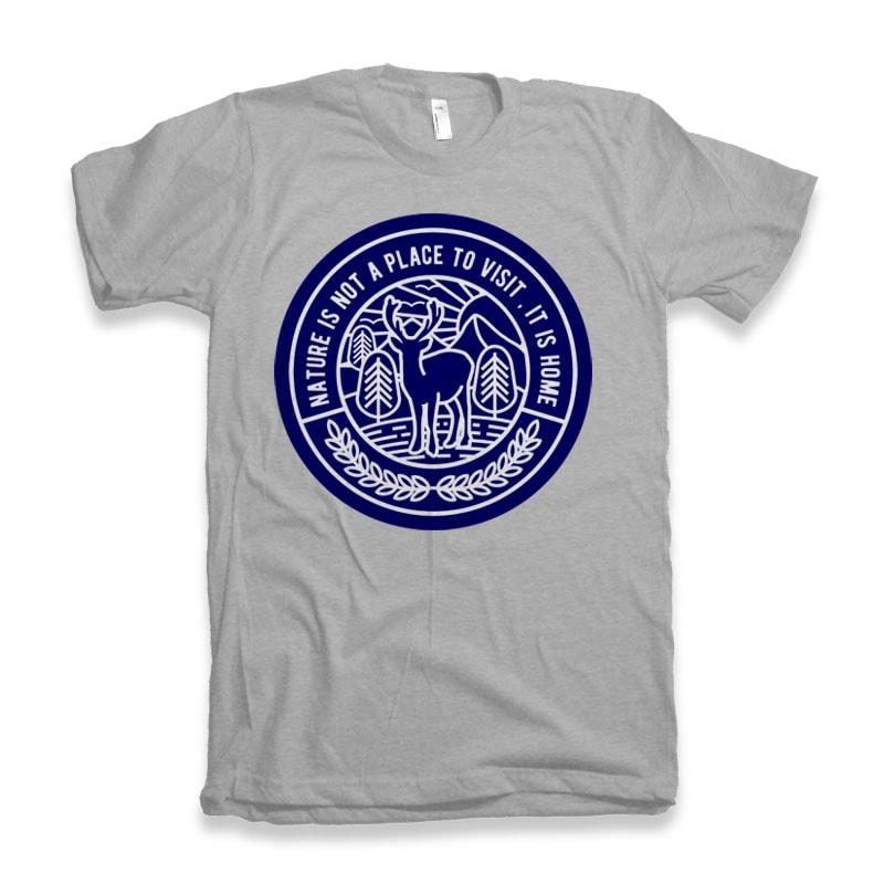 Nature t shirt design png