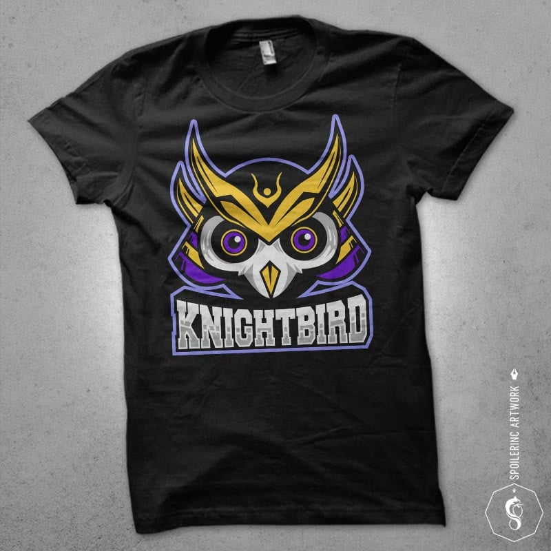 owl samurai Vector t-shirt design