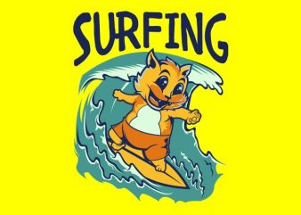 SURFING t shirt design for purchase