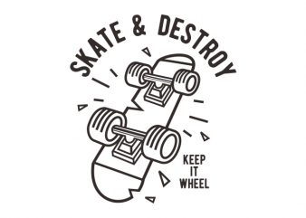 Skate & Destroy t shirt design for sale