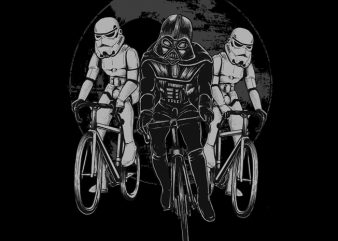 Star Bikers print ready t shirt design