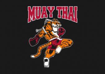 TIGER MUAY THAI vector t shirt design artwork