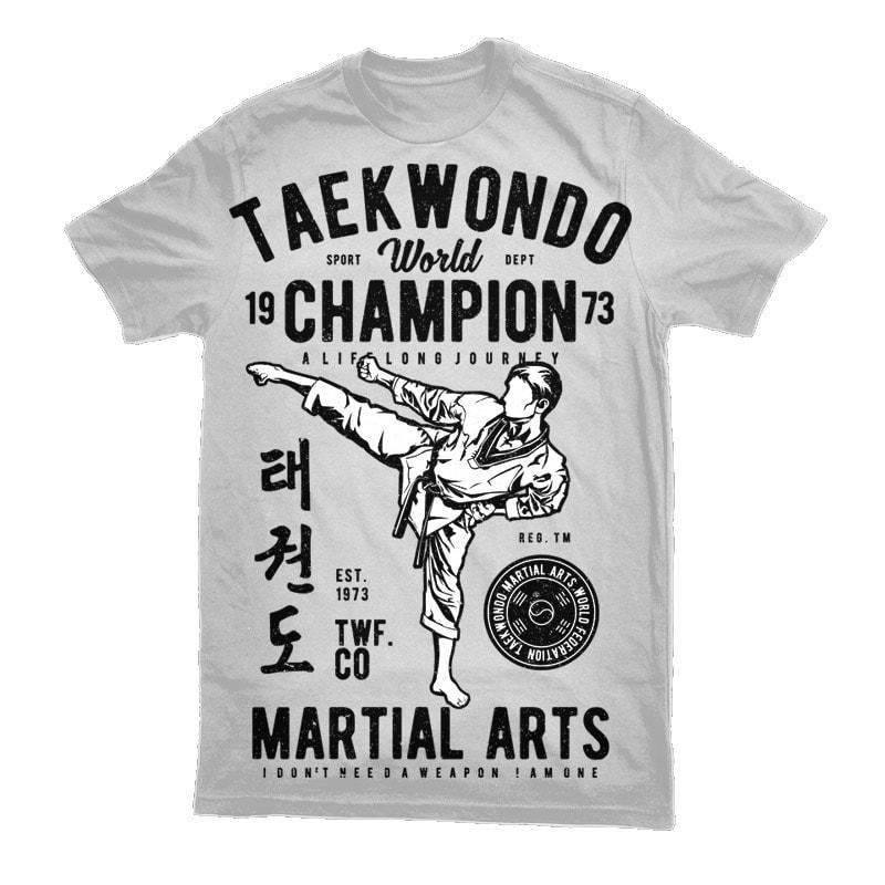 Taekwondo World Graphic t-shirt design vector t shirt design